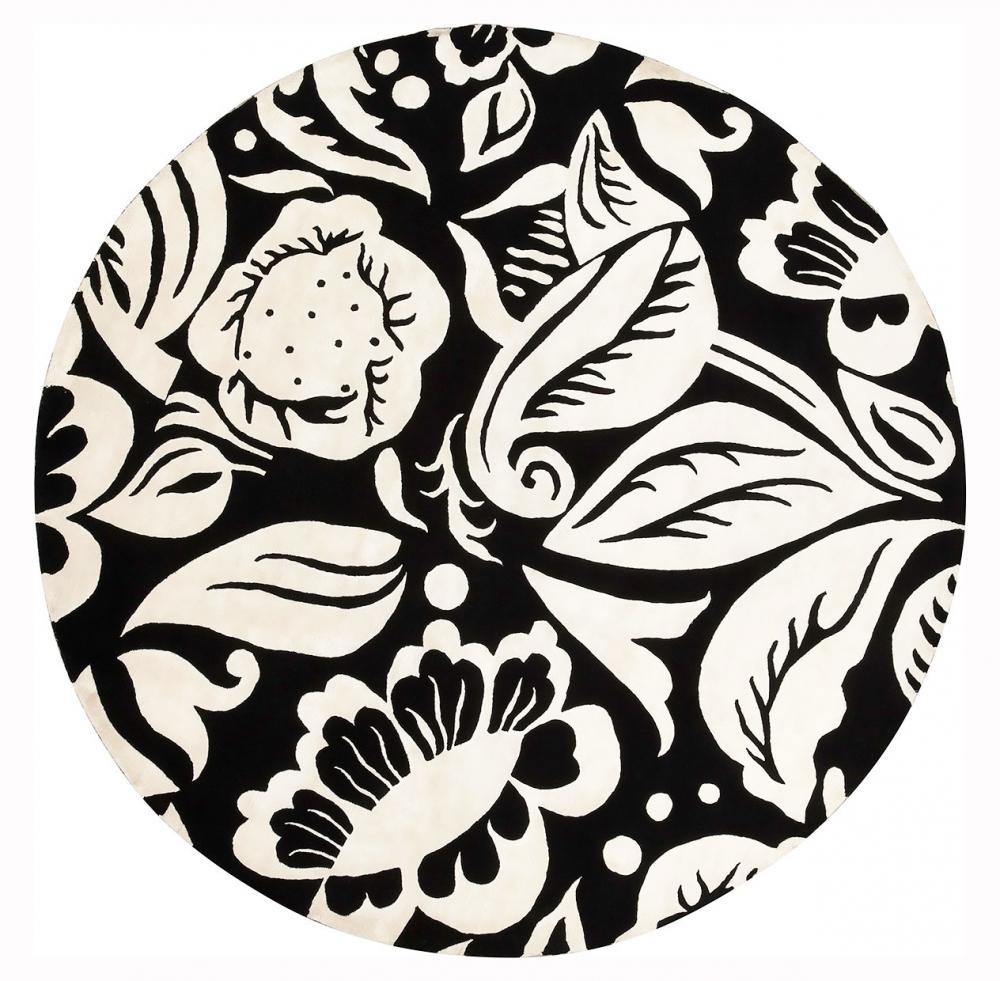 Черно-белые цветы. Автор Raoul DUFY.<br />Текстильный дизайн 1926–28 годов, Париж, Франция.<br />Ковер соткан в Непале. Состав шерсть, шелк.<br />Размер : 245×245 см. (006582)