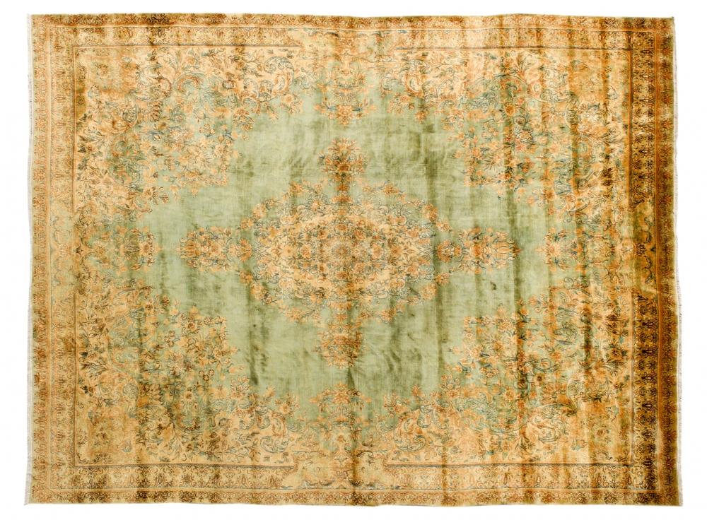 Керман. Юго-восток Персии (Иран). Конец 19 века.<br />Состав шерсть. Размер : 351х431 см. (000218с)