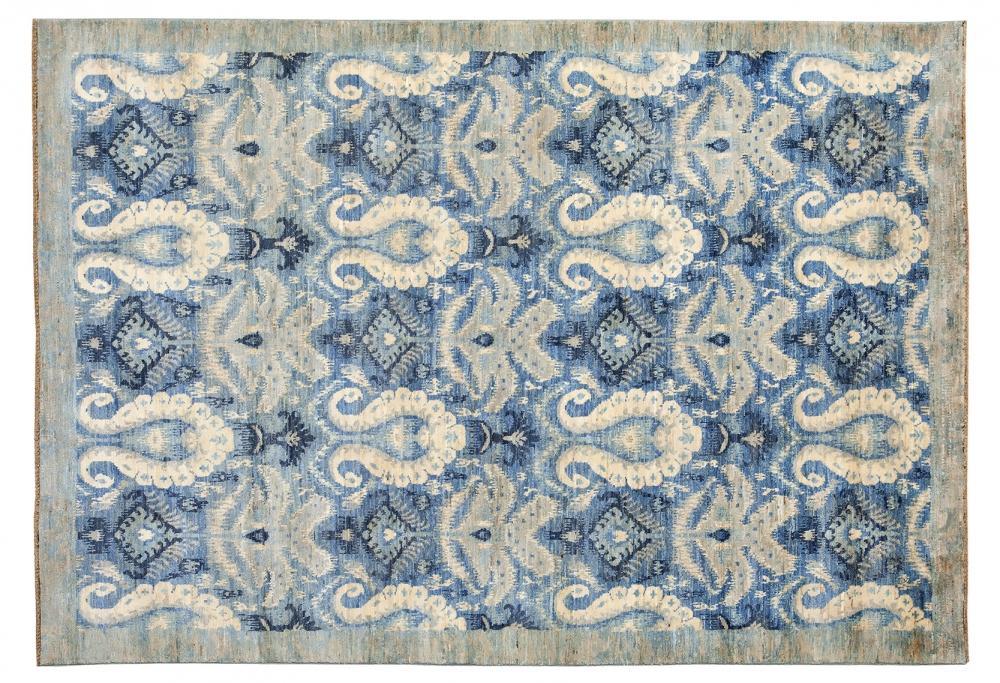 Икат. Дизайн 19 века. Ковер соткан в Индии.<br />Состав шерсть. Размер : 183×275 см. (006242)