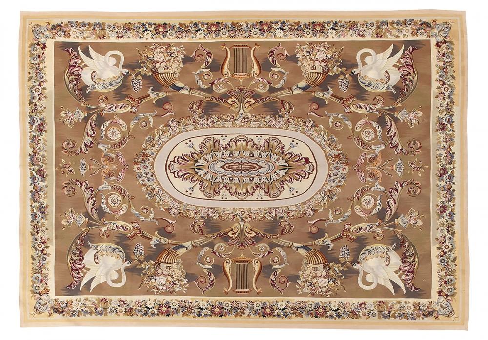"""Гобелен """"Обюссон"""". Франция. Дизайн начало 19 века.<br />Современная копия. Ручная работа. Состав шерсть.<br />Размер : 303×430 см. (005439)"""