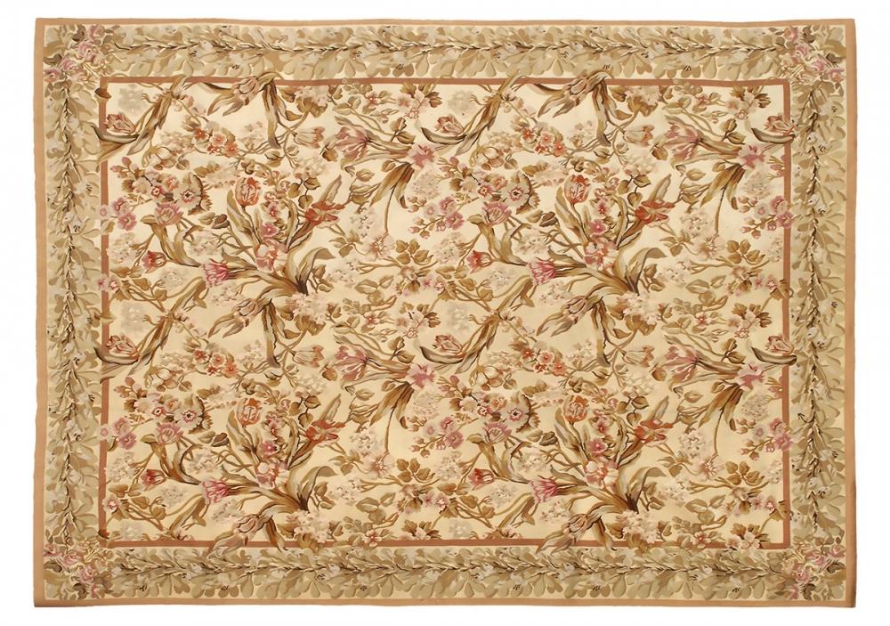 """Гобелен """"Понтремоли"""". Дизайн Британской вышивки 1920-х годов, мастерская Jacques Moreno Pontremoli (Лондон). Ручная работа. Современная копия. Состав шерсть. Размер : 263x370 см. (005016)"""