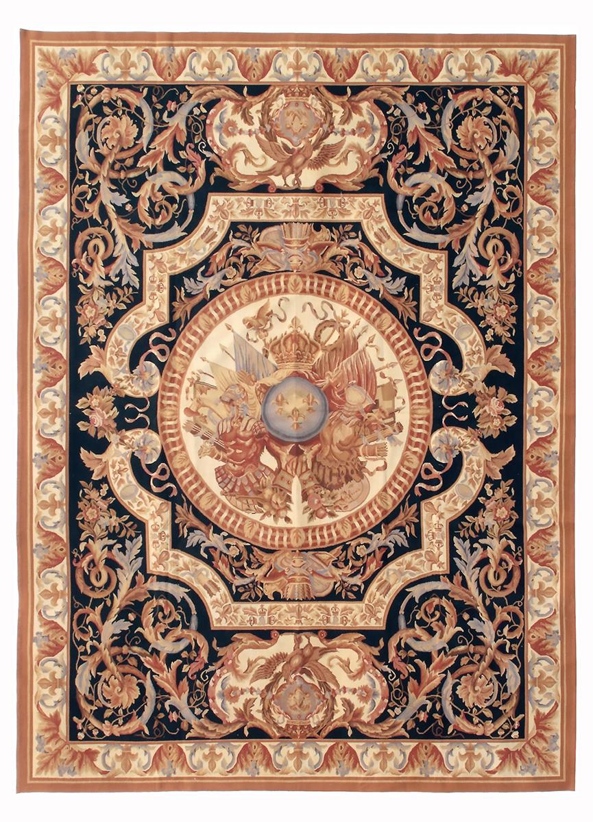 Гобелен. Дизайн ковра мануфактуры Савонери.<br />2-ая половина 18 века. Современная копия.<br />Ручная работа. Состав шерсть. Размер : 274×370 см. (005050)