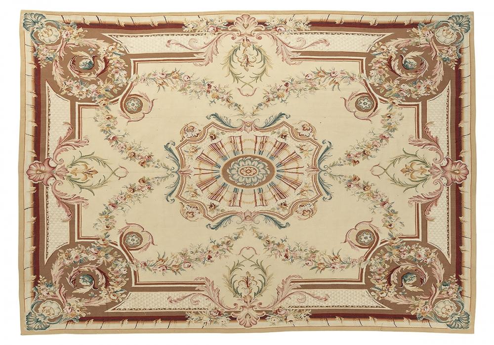 """Гобелен """"Обюссон"""". Франция. Дизайн середины 18 века.<br />Современная копия. Ручная работа. Состав шерсть.<br />Размер : 450×588 см. (005477)"""