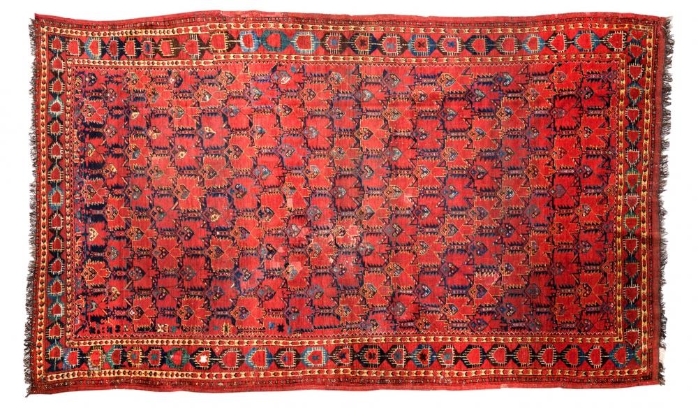 Бешир. Регион Амударьи (Туркменистан). 3-ая четверть 19 века.<br />Состав шерсть. Размер : 180х300 см. (000263с)