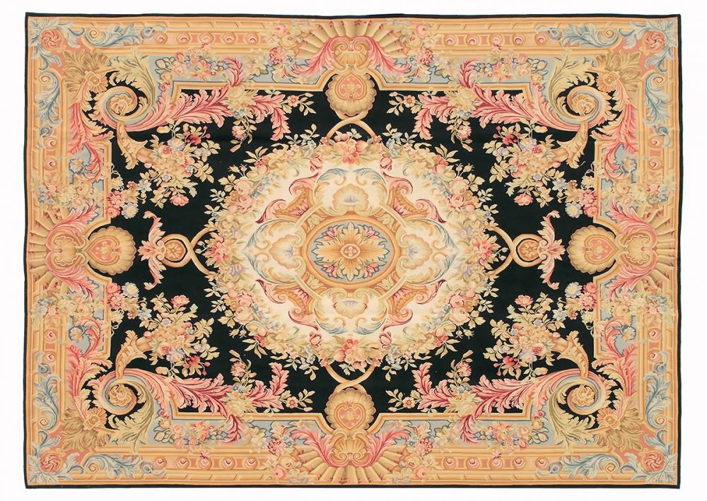 """Гобелен """"Обюссон"""". Франция. Дизайн начало 18 века.<br />Современная копия. Ручная работа. Состав шерсть.<br />Размер : 272×375 см. (005055)"""