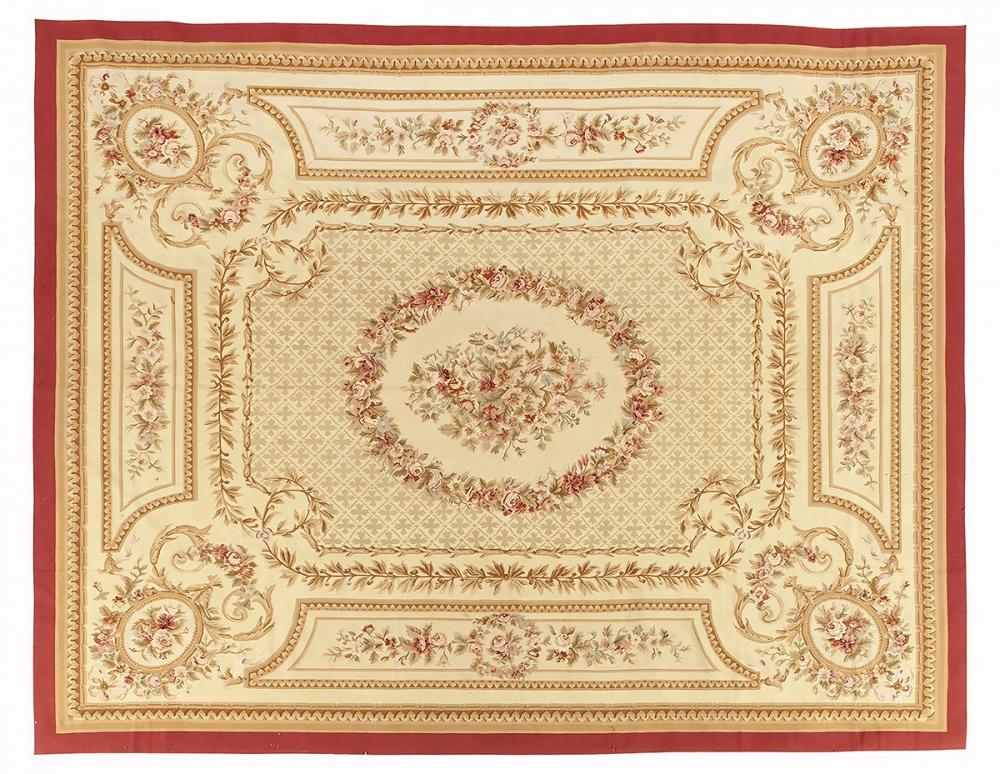 """Гобелен """"Обюссон"""". Франция. Дизайн конца 18 века.<br />Современная копия. Ручная работа. Состав шерсть.<br />Размер : 362×460 см. (005585)"""