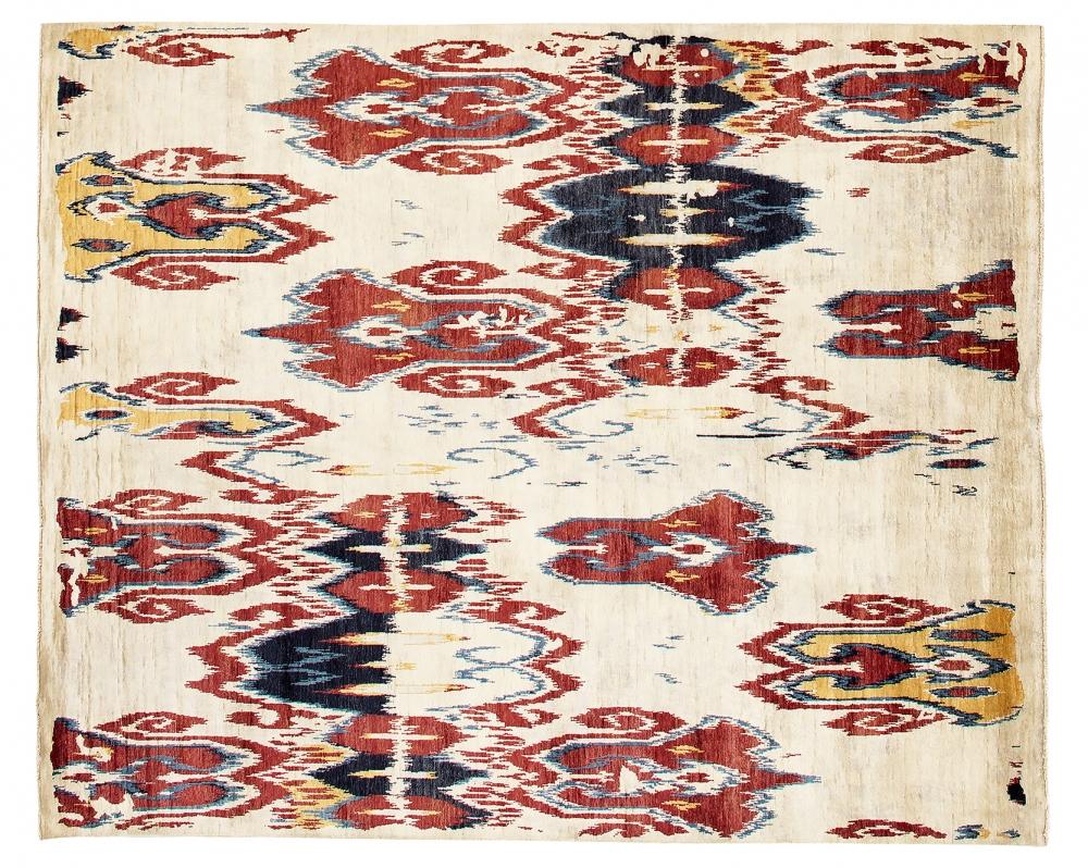 Икат №20. Дизайн Марк Патлис.<br />Ковер соткан в Джайпуре (Индия).<br />Состав шёлк. Размер : 240х299 см. (005328)