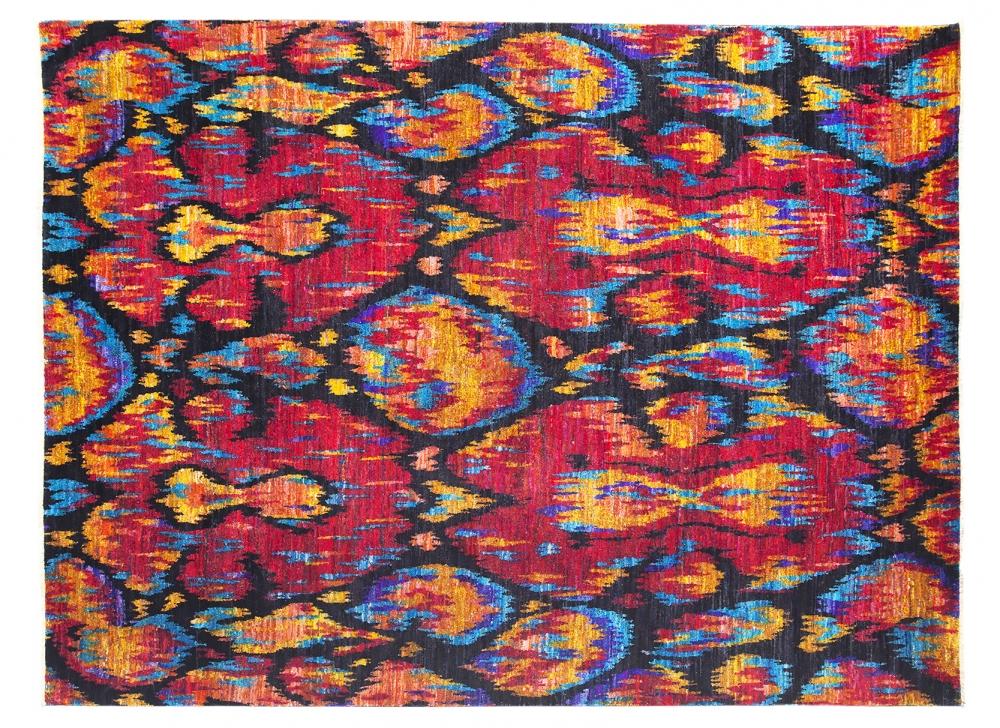 Икат №22. Дизайн Марк Патлис.<br />Ковер соткан в Джайпуре (Индия).<br />Шёлк Сари. Размер : 244х323 см. (006374)