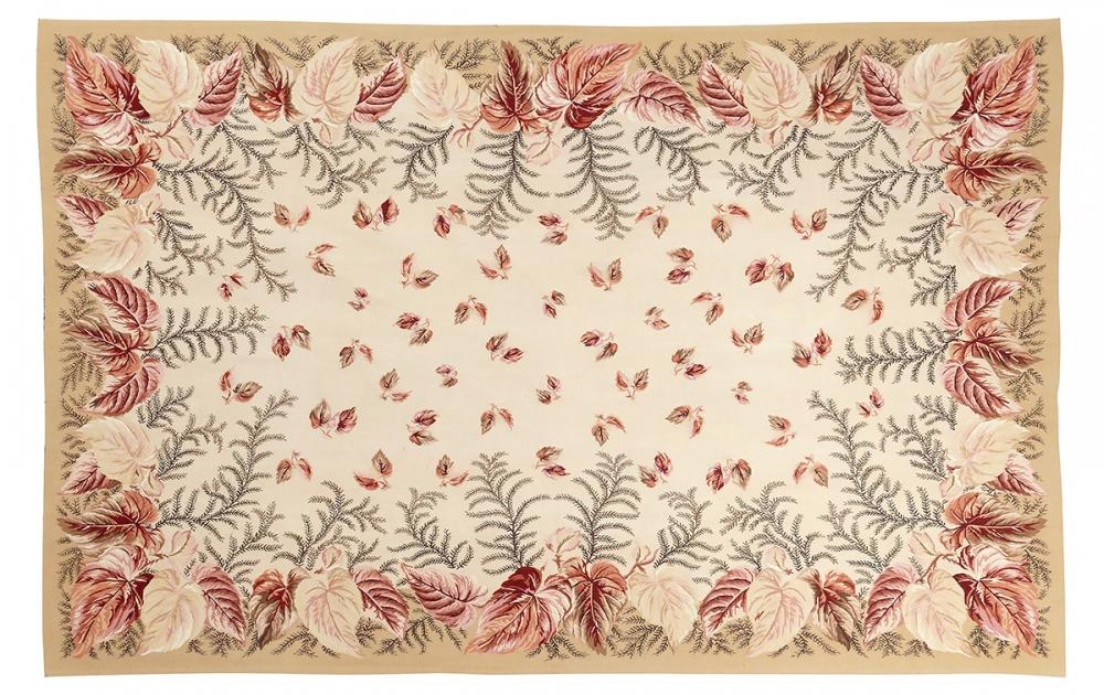 """Гобелен """"Листья"""". Современный дизайн.<br />Ручная работа. Состав шерсть.<br />Размер : 178×276 см. (005054)"""