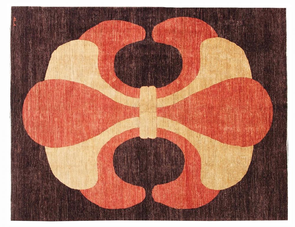 Трилистник. Неизвестный автор. Текстильный дизайн 1930-х годов, Франция. Реплика. Ковер соткан в Пакистане.<br />Состав шерсть. Размер : 244х326 см. (003425)
