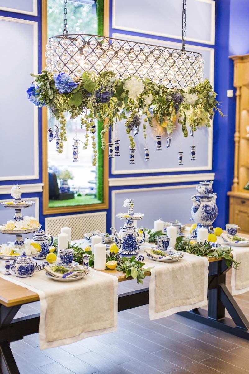 Сервировка стола для ГФЗ. Открытие флагманского магазина на Пятницкой 10, Москва.
