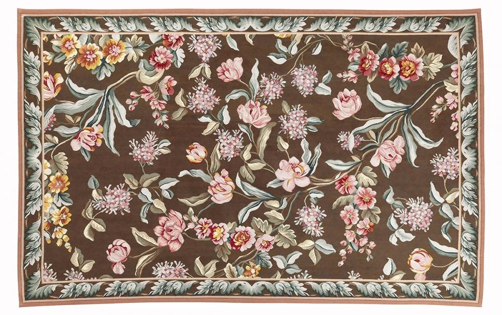 """обелен """"Понтремоли"""". Дизайн Британской вышивки 1920-х годов, мастерская Jacques Moreno Pontremoli (Лондон). Ручная работа. Современная реплика. Состав шерсть. Размер : 181x284 см. (005056)"""