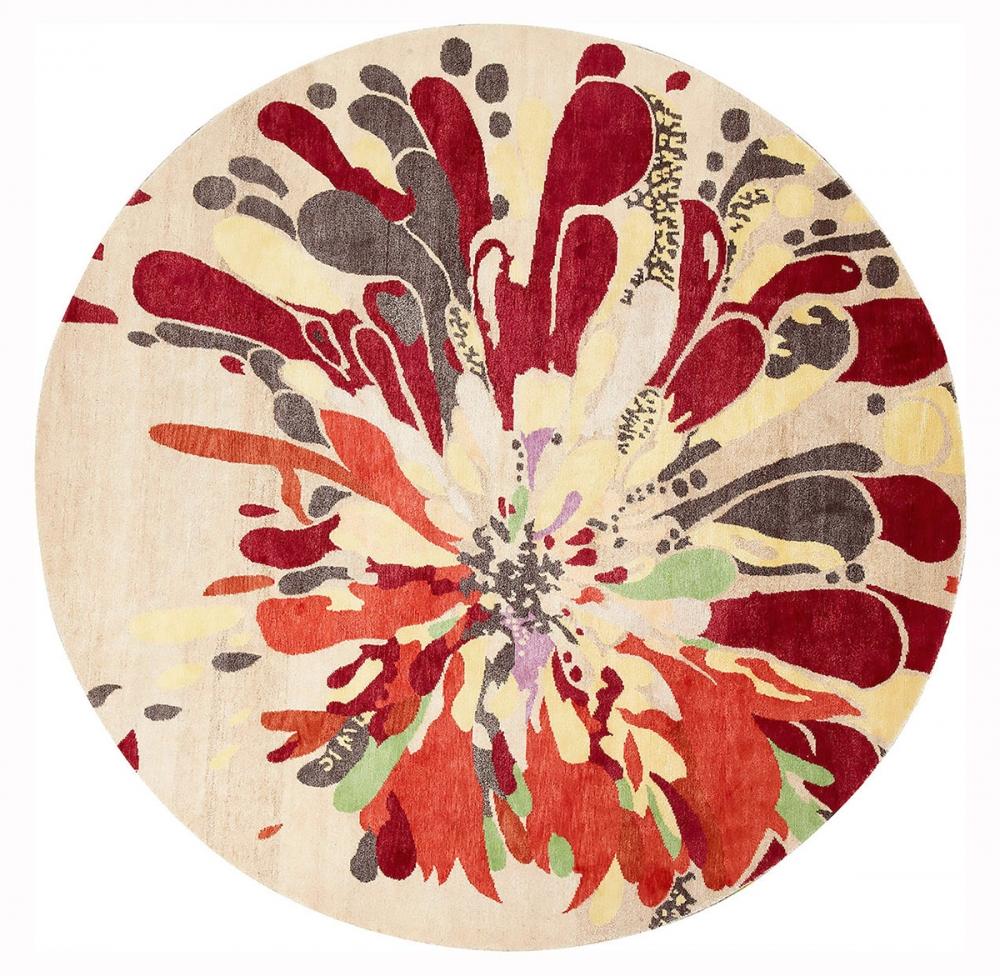 Цветочный узор. Неизвестный автор. 1928 г.<br />Ковер соткан в Непале. Состав шерсть, шелк.<br />Размер : 235×235 см. (006547)