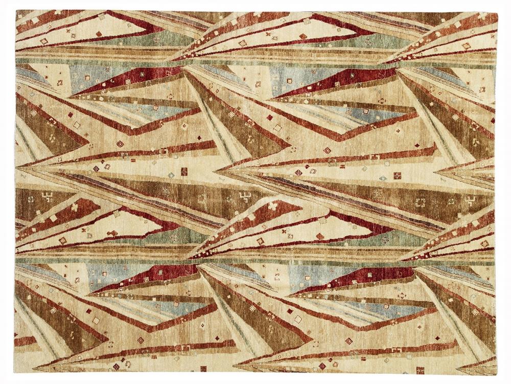Кружево. Автор Maria May. Reimann school, Berlin.<br />Дизайн 1930 года, Германия. Реплика. Ковер соткан в Пакистане.<br />Состав шерсть. Размер : 240х315 см. (004106)