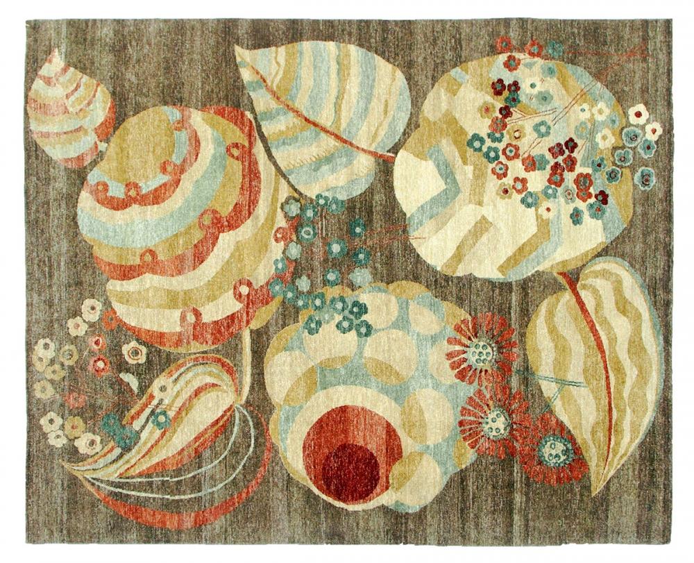 Цветочные мотивы. Автор Maurice Dufrene.<br />Текстильный дизайн 1920-22 годов, Париж, Франция.<br />Ковер соткан в Пакистане. Состав шерсть.<br />Размер : 248х312 см. (004144)