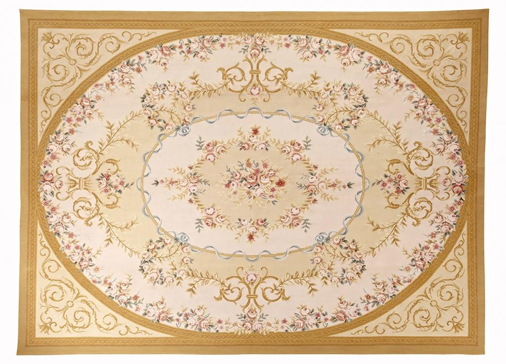 Гобелен Обюссон. Франция. Дизайн 19 века.<br />Современная копия. Ручная работа. Состав шерсть.<br />Размер : 272×367 см. (005046)