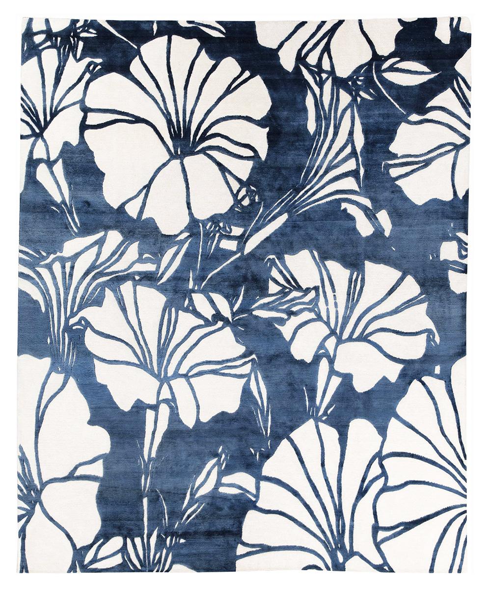 Цветы. Автор Sonia Delaunay. Текстильный дизайн. 1930 г.<br />Париж, Франция. Реплика. Ковер соткан в Непале.<br />Состав шерсть, шелк. Размер : 246×300 см. (006734)