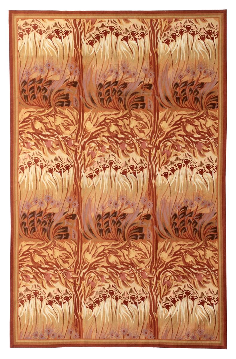 Гобелен Модерн. Англия. Дизайн A.H.Mackmurdo. 1887-8 гг. Современная копия. Ручная работа. Состав шерсть. Размер : 182х281 см. (005039)
