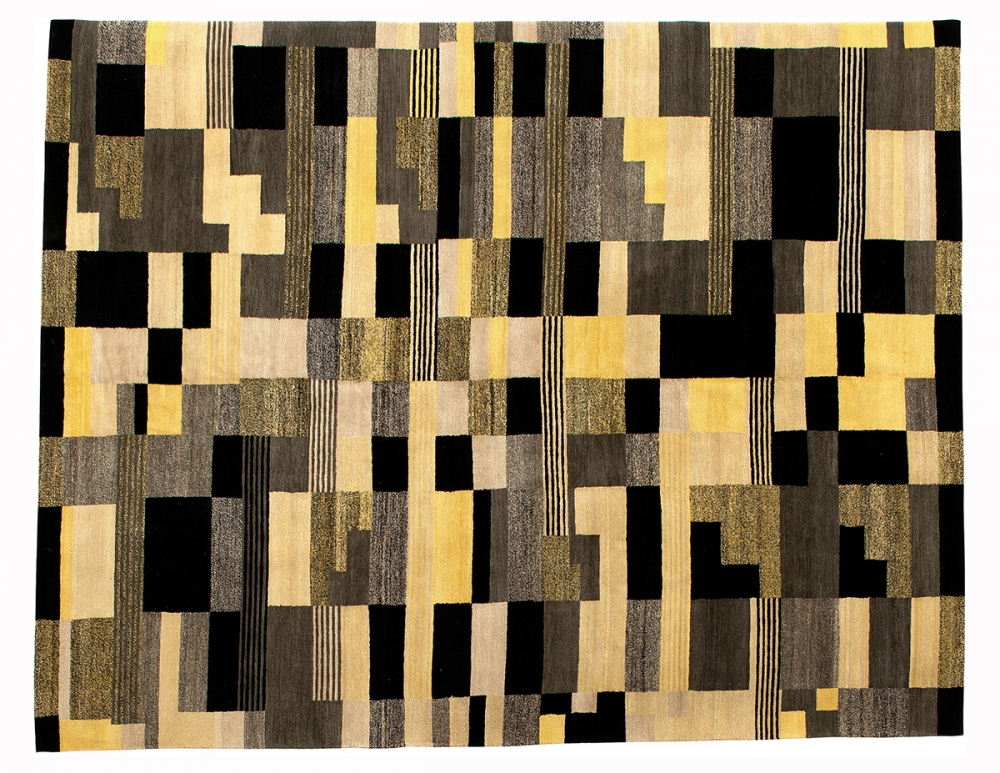 Ковер из коллекции Баухауз. Дизайн Анни Альберс.<br />1928 г. Германия. Повтор. Ковер соткан в Тибете.<br />Состав шерсть, шелк. Размер : 226х287 см. (005483)