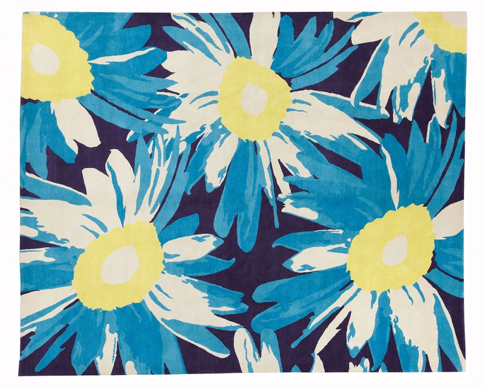 Цветы. Текстильный дизайн Atelier Martine. 1926 г. Париж, Франция. Реплика. Ковер соткан в Непале. Состав шерсть.<br />Размер : 245×304 см. (006698)