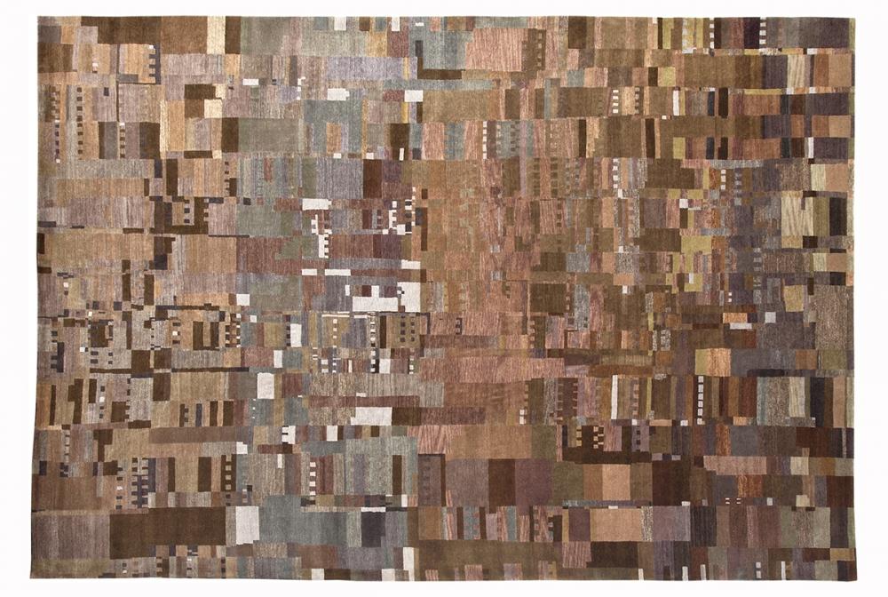 Ковер из коллекции Баухауз. Автор Otti Berger. 1923 г. Германия.<br />Копия. Ковер соткан в Непале. Состав шерсть, шелк.<br />Размер : 305×412 см. (006267)