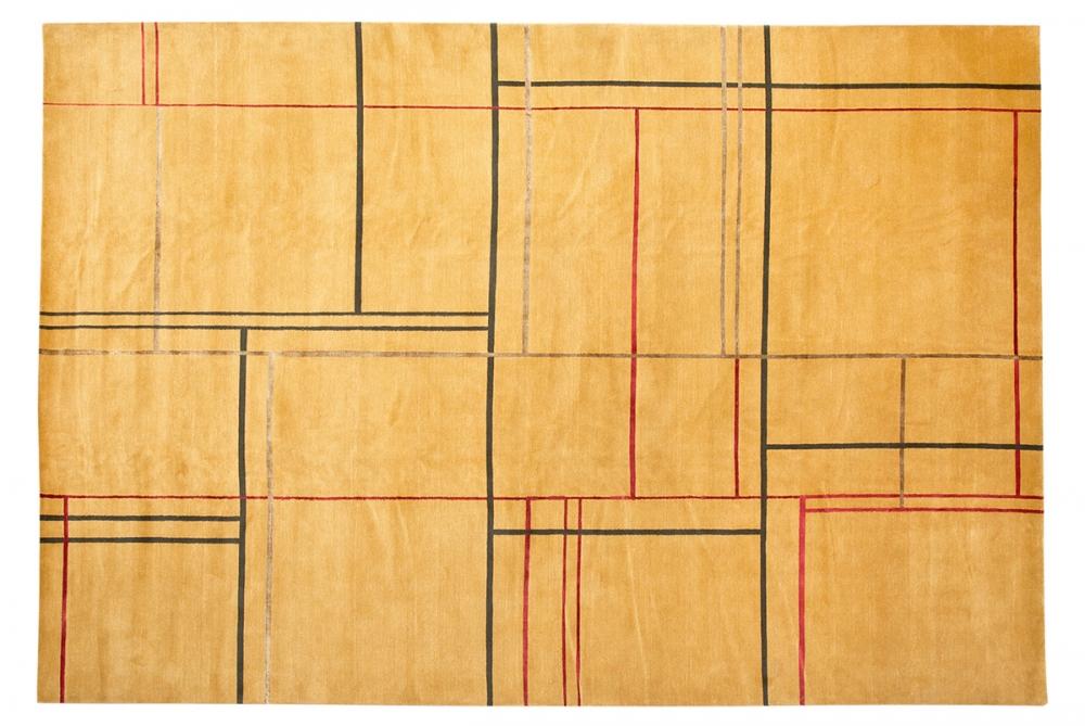 Ковер из коллекции Баухауз. Текстильный дизайн.<br />Автор Suse Ackermann. 1923 г. Германия. Состав шерсть, шелк.<br />Ковер соткан в Непале. Размер : 300×421 см. (006321)