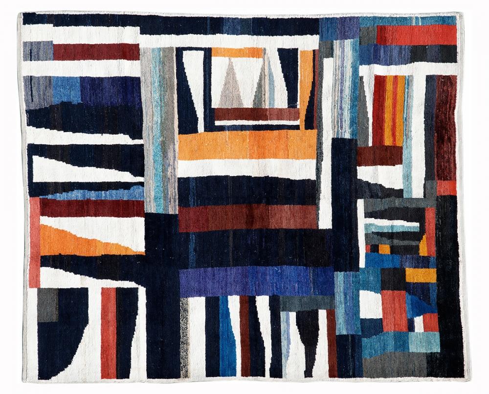 Ковер из коллекции Баухауз. Дизайн Бенита Отте-Кох.<br />1928 г. Германия. Реплика. Ковер соткан в Индии.<br />Состав шерсть. Размер : 201х235 см. (006425)