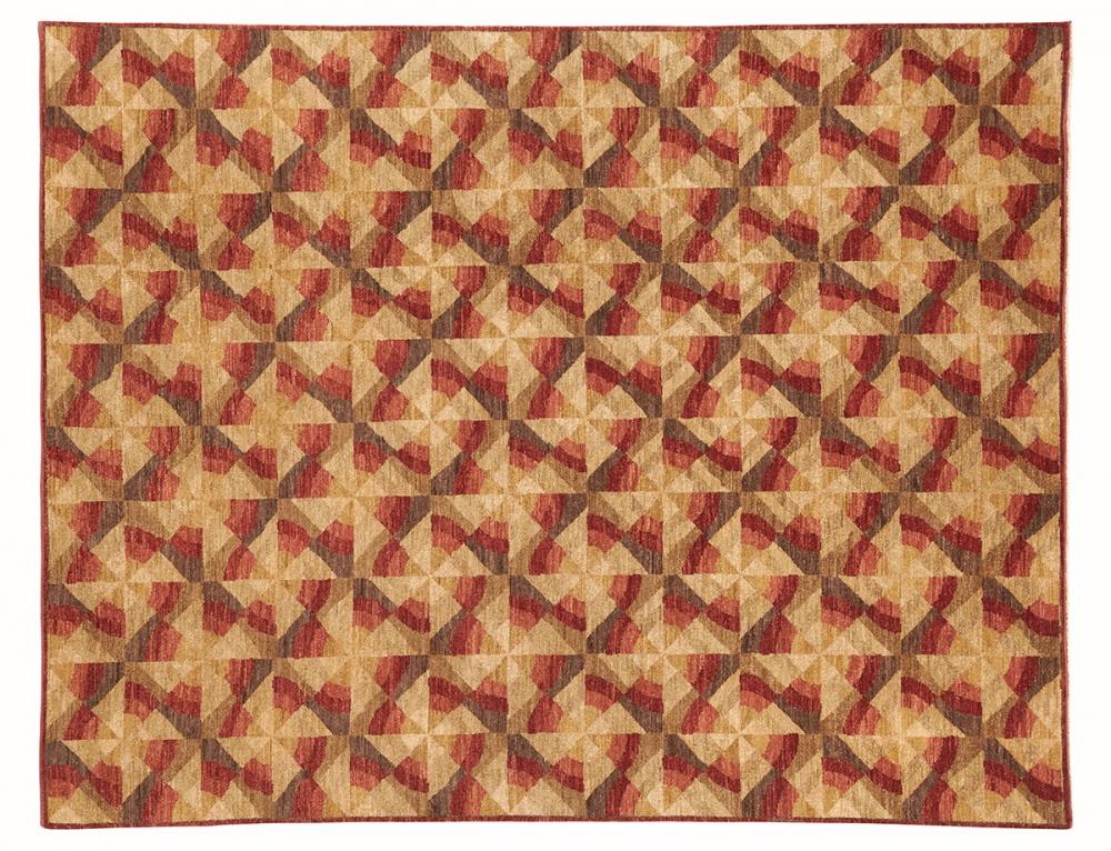Ковер из коллекции Баухауз. Текстильный дизайн.<br />Автор Karl Hermann Haupt. 1923 г. Германия. Состав шерсть.<br />Ковер соткан в Пакистане. Размер : 212×273 см. (006532)