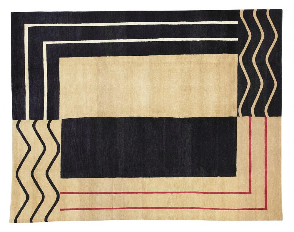 Геометрический дизайн. Автор Ivan Da Silva Bruhns.<br />Композиция 1925 года, Франция. Реплика. Ковер соткан в Тибете.<br />Состав шерсть. Размер : 242х307 см. (006572)