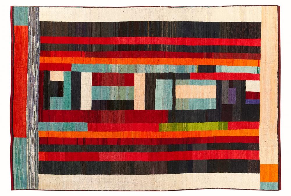 Ковер из коллекции Баухауз. Дизайн Бенита Отте-Кох.<br />1923 г. Германия. Реплика. Ковер соткан в Индии.<br />Состав шерсть. Размер : 212х315 см. (006599)