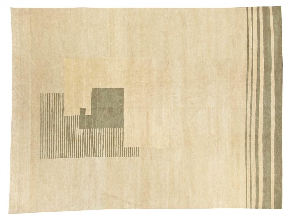 Кубический дизайн. Автор Ivan Da Silva Bruhns.<br />Дизайн 1930-х годов, Франция. Реплика. Ковер соткан в Тибете.<br />Состав шерсть. Размер : 275х364 см. (006669)