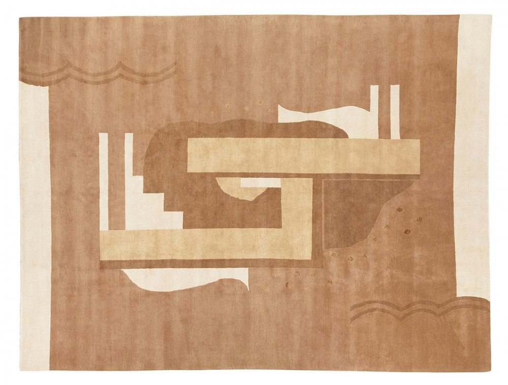 Кубический дизайн. Автор Ivan Da Silva Bruhns. Дизайн 1930-х годов, Франция. Реплика. Ковер соткан в Тибете.<br />Состав шерсть. Размер : 273х360 см. (006714)