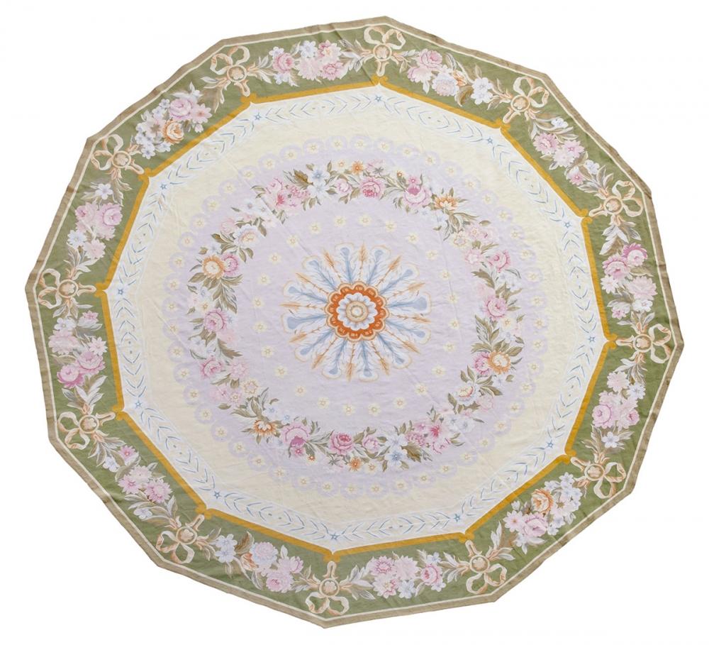 "Гобелен ""Charles X. Aubusson"". Франция. Дизайн гобелена 1825 г.. Современная копия. Ручная работа. Состав шерсть.<br />Размер : 555х562 см. (006799)"