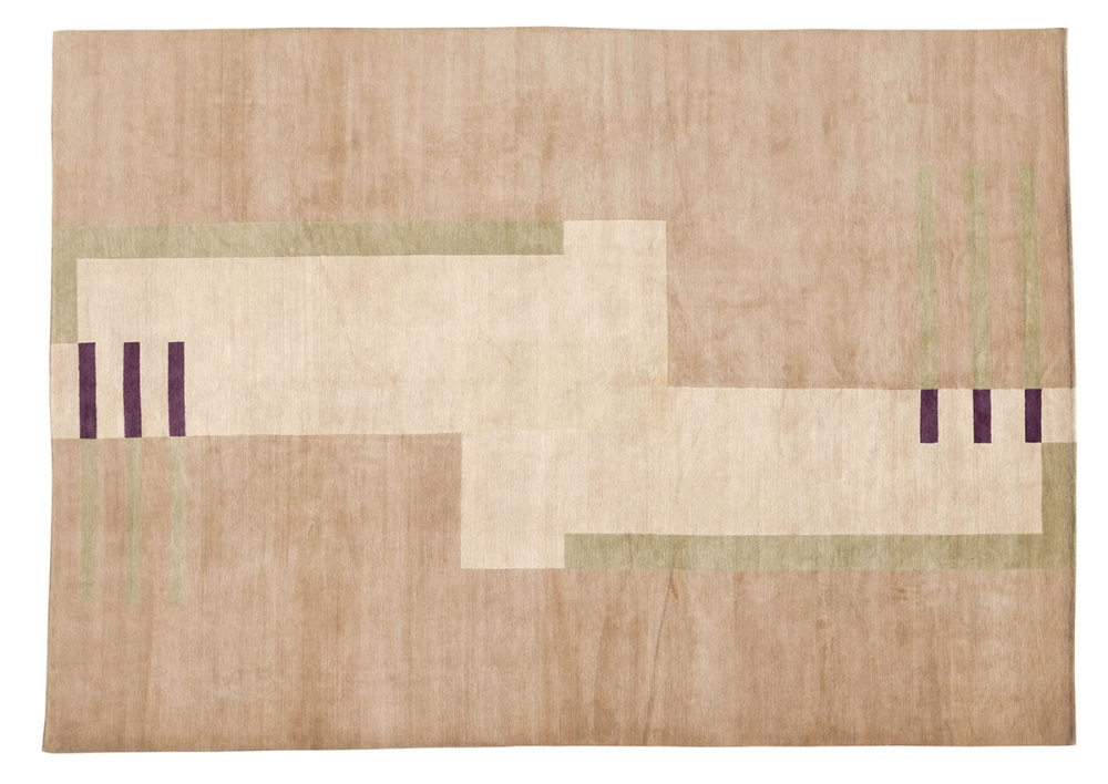 Кубический дизайн. Автор Ivan Da Silva Bruhns.<br />Дизайн 1930-х годов, Франция. Реплика. Ковер соткан в Тибете.<br />Состав шерсть. Размер : 310х421 см. (006818)