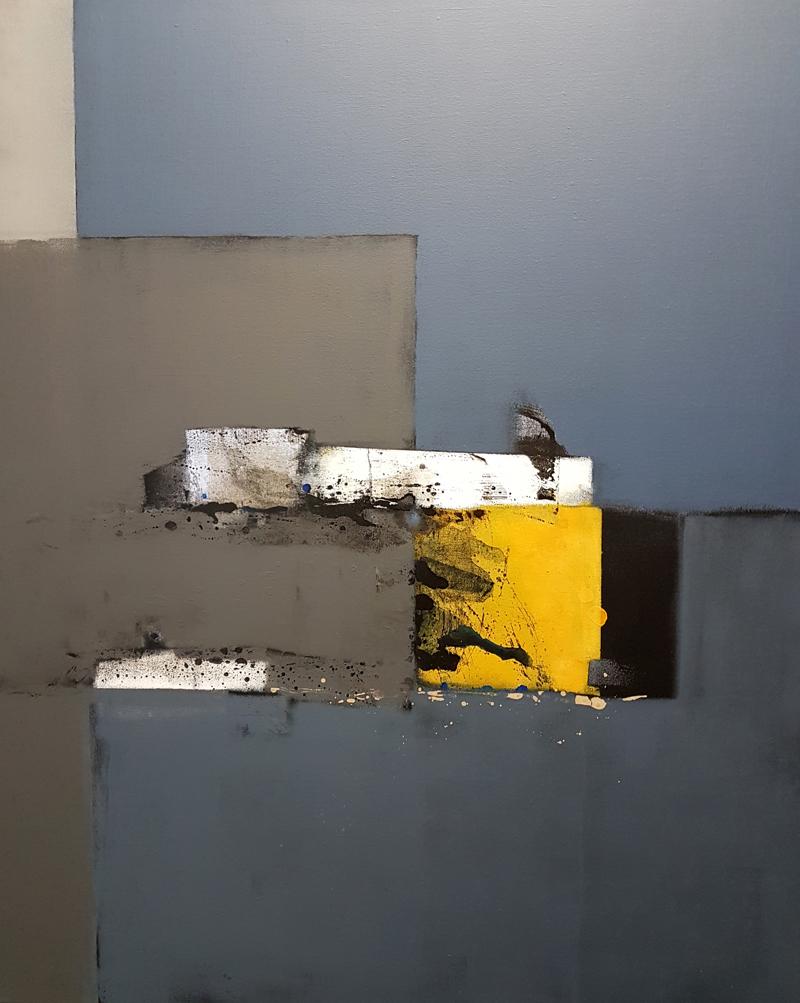<strong>Желтая машина</strong><br />80х100 см<br />смешанная техника<br />холст на подрамнике