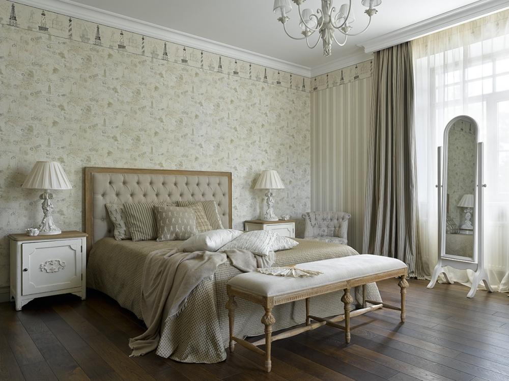 """Спальня """"белое дерево"""" 2 этаж."""