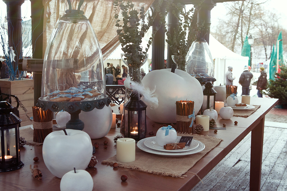 """Сад Эрмитаж. Проект """"Яблочное безумие"""". Ежегодная рождественская ярмарка проводимая журналом Seasons."""